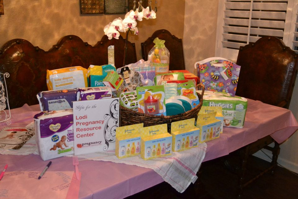 Items collected for the Lodi Pregnancy Resource Center.